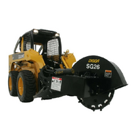 Digga Skid steer Loader Stump Grinder