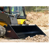 Digga Skid steer Loader Rock Bucket and Grapple / Grab